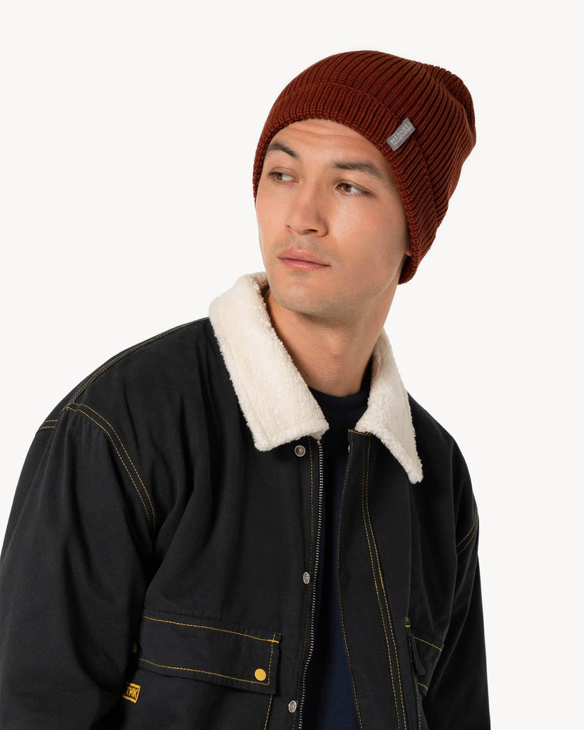 Brown Knitted Hat Winter Men