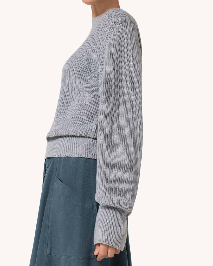 Grey knitted pullover Jumper Women