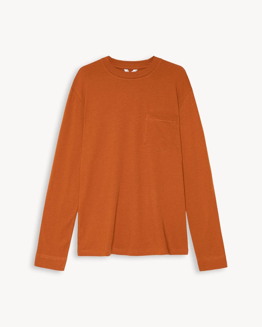 variant_2 | EN Longsleeve Men Orange Brown | DE Langarmshirt Herren Orange Braun