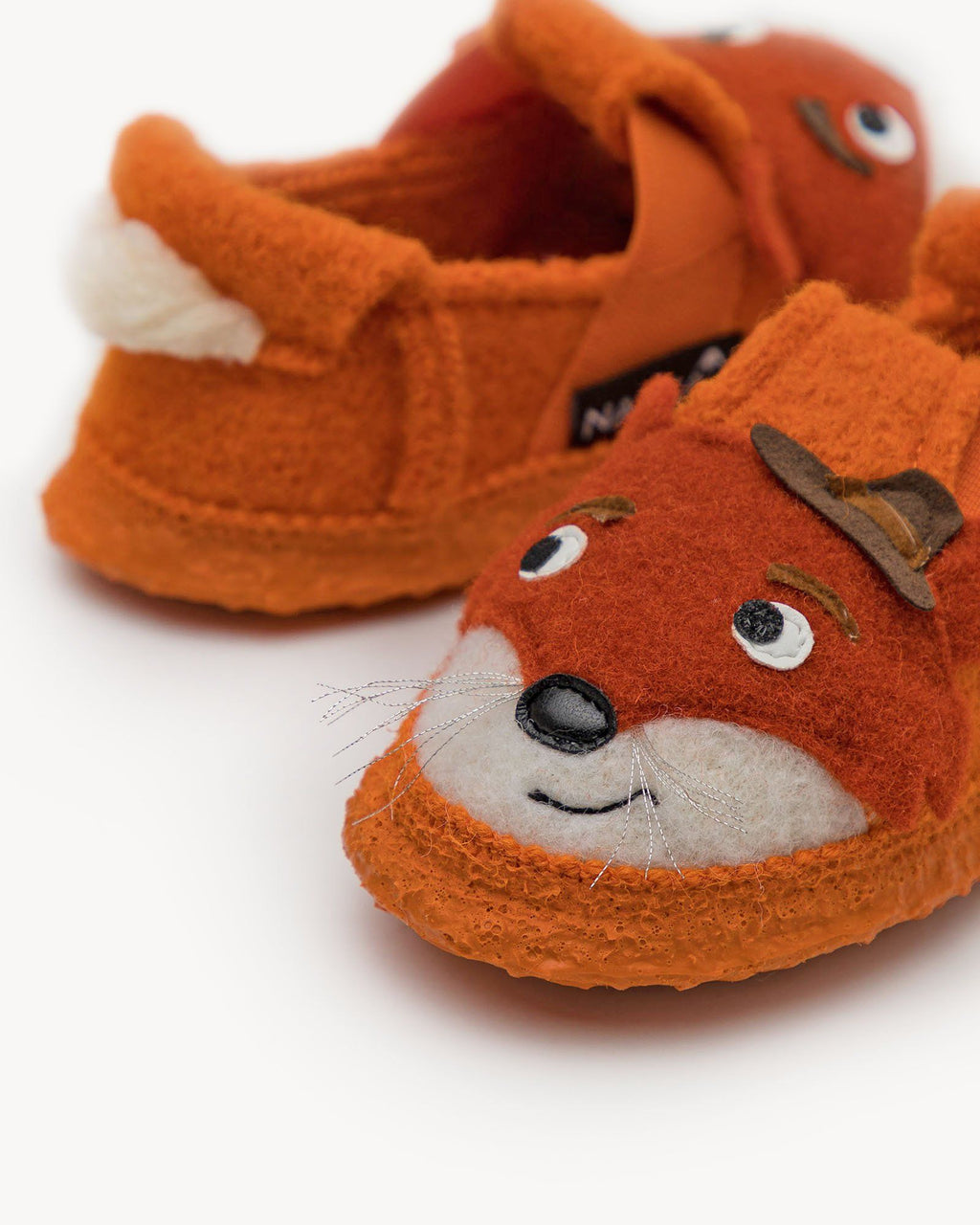 variant_1 | EN Orange Home Slipper Kids Animal | DE Orange Hausschuhe Kinder Tiere