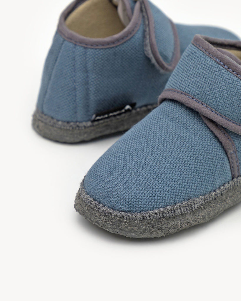 Blue Home Slipper Kids with Velcro Fastener NANGA