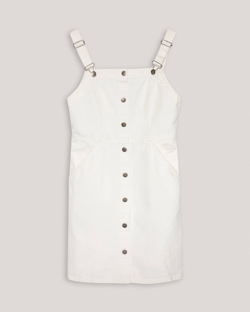 variant_1 | EN Pinafore Dress White Women People Tree | DE Latzkleid Kleid Weiß Damen People Tree