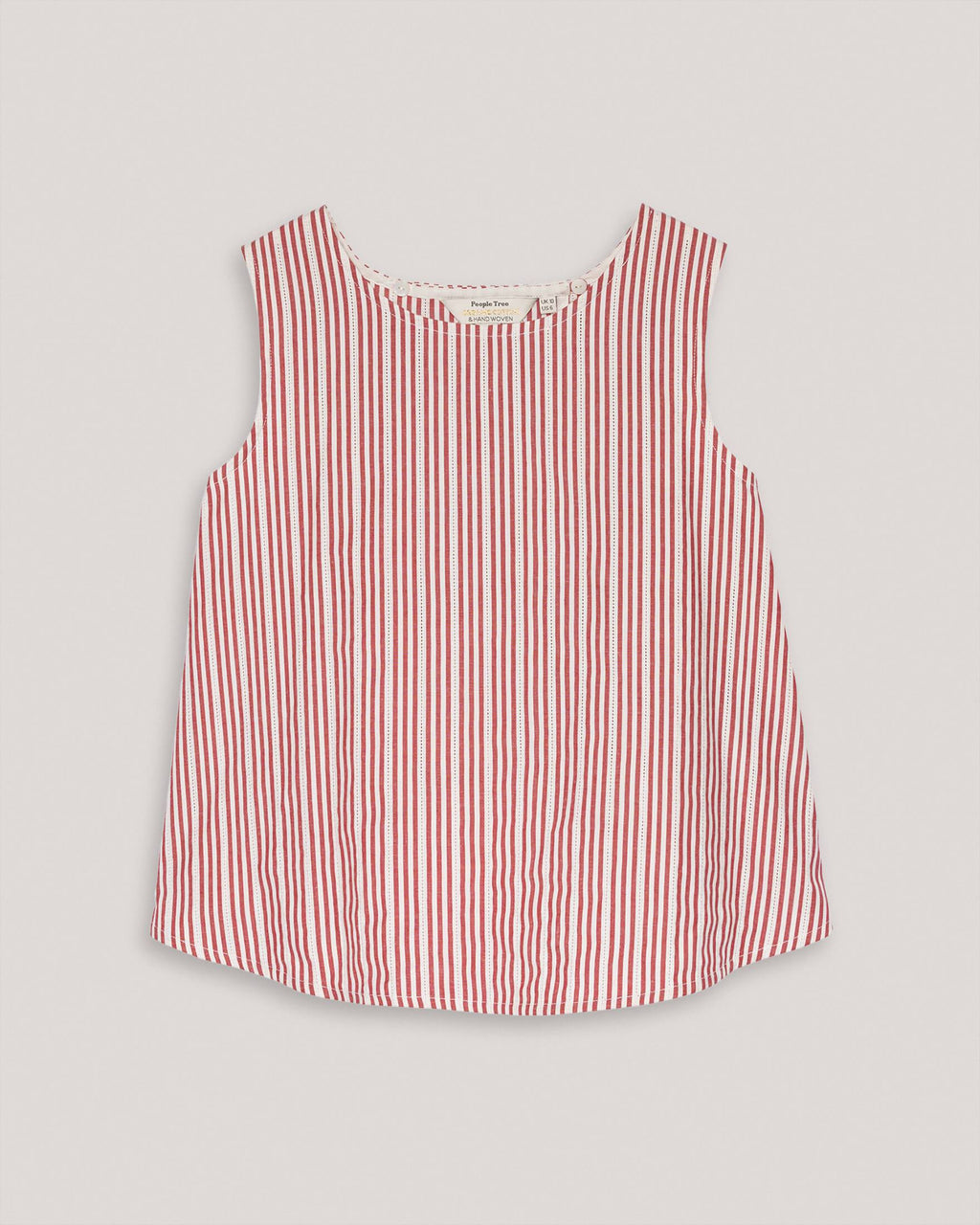 variant_1 | EN Top with Stripes Red White Women People Tree | DE Top mit Streifen Rot Weiß Damen People Tree