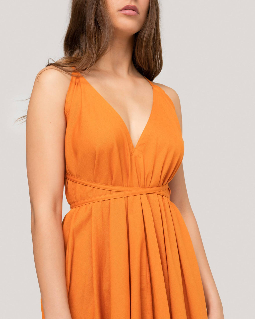 variant_2 | EN Orange Dress Summer Women Suite13 | DE Orangenes Kleid Lang Damen Suite13