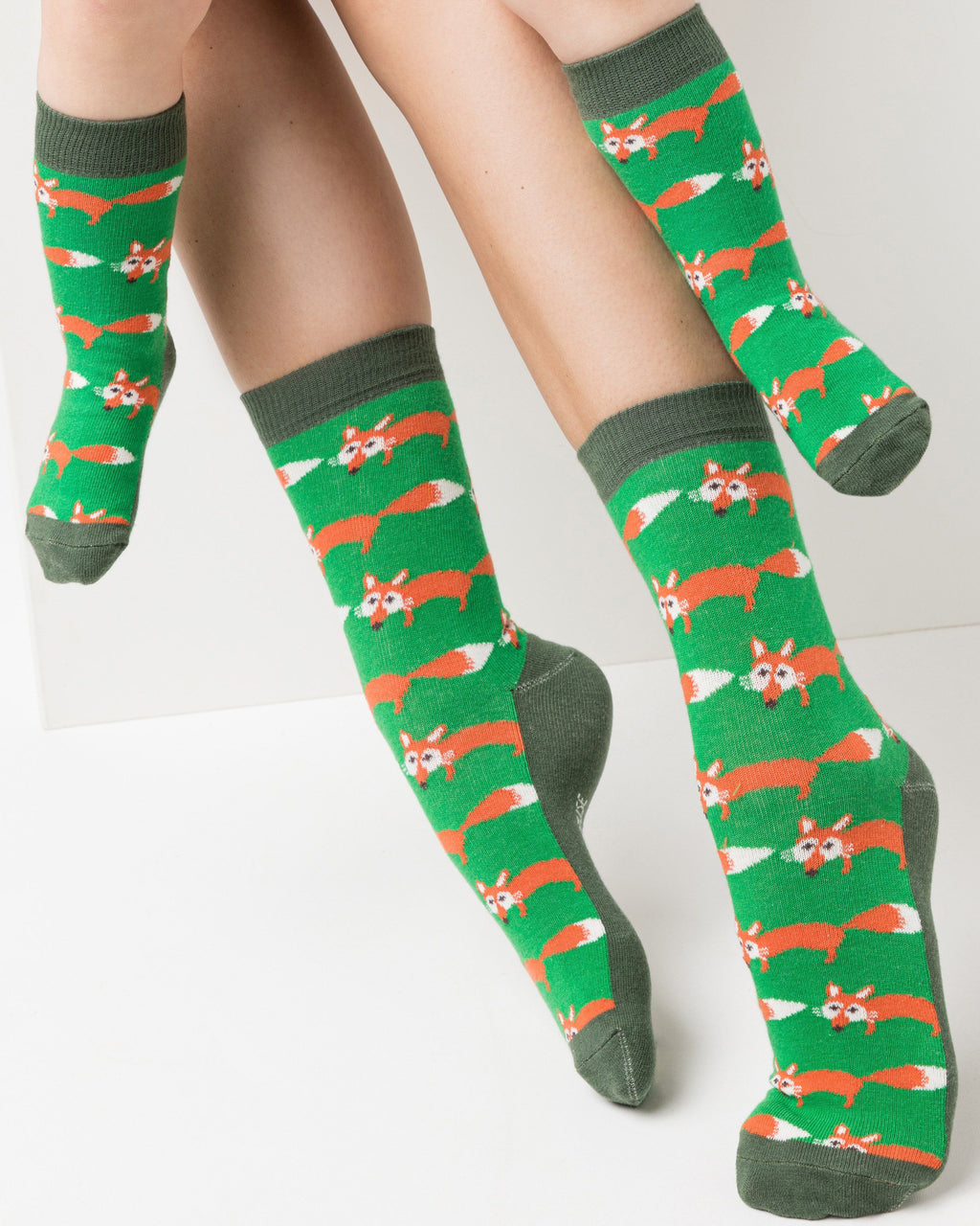 variant_4 | EN Dark Green Socks with Print Kids | DE Dunkelgrüne Socken mit Print Kinder