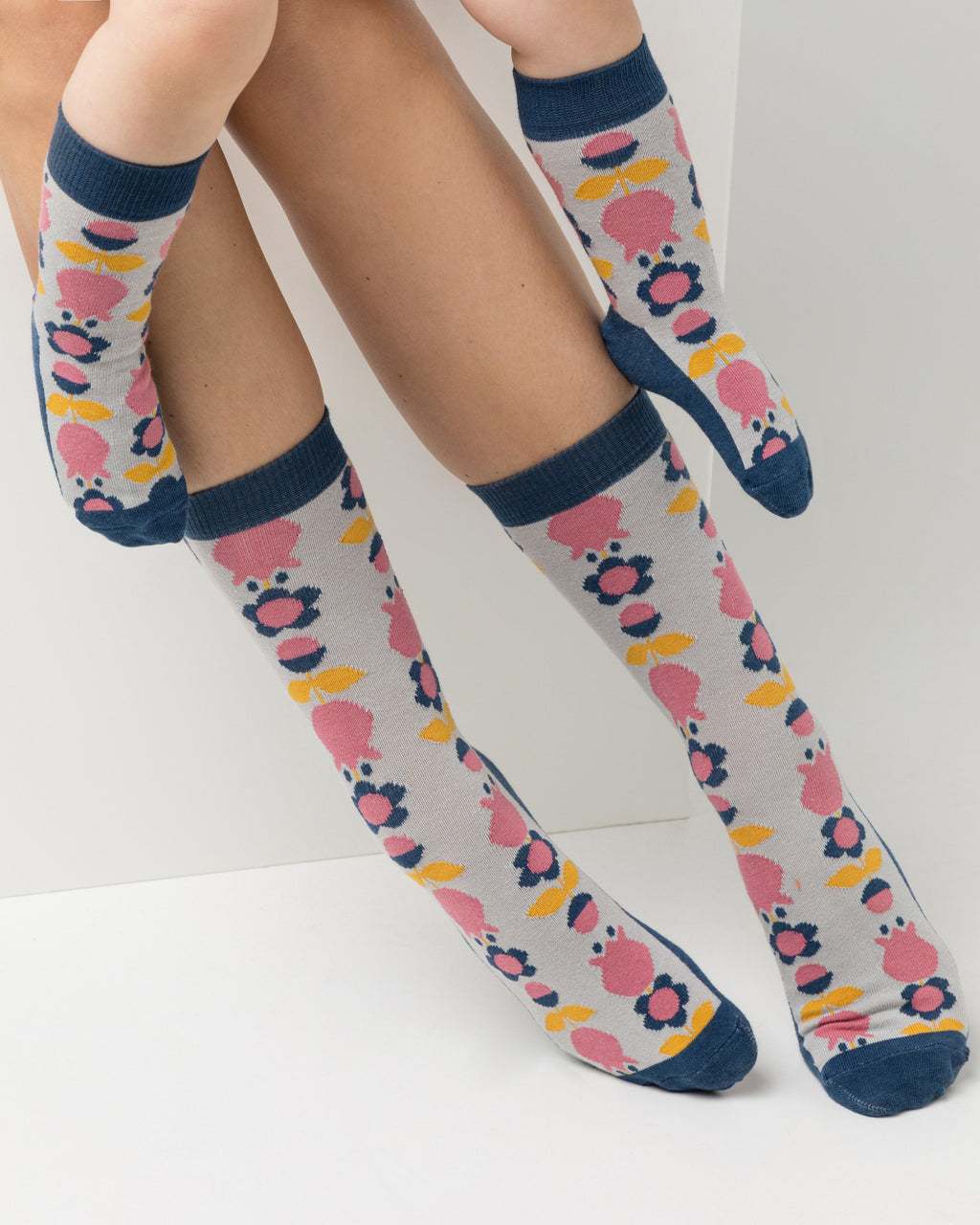 variant_7 | EN Blue Socks with Print Kids | DE Blaue Socken mit Print Kinder