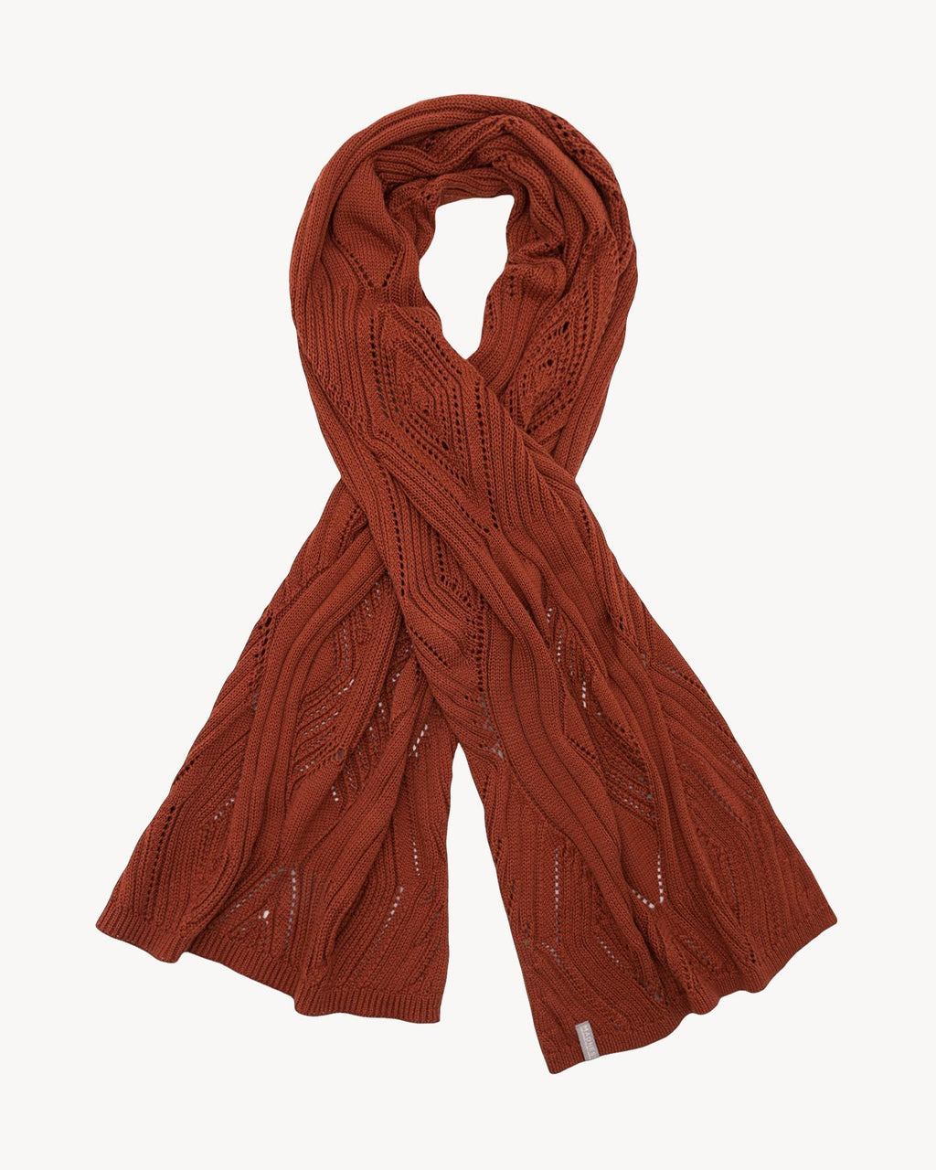 variant_1 | EN Women knitted scarf brown | DE Damen Strickschal braun