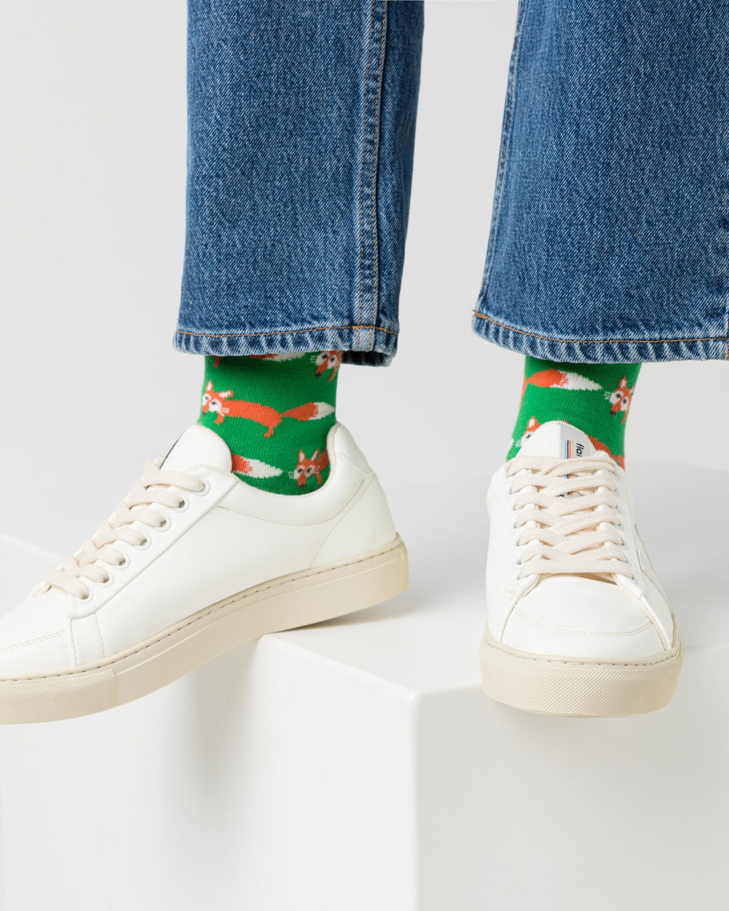 variant_1 | EN Green Socks with Print Women | DE Grüne Socken mit Print Damen