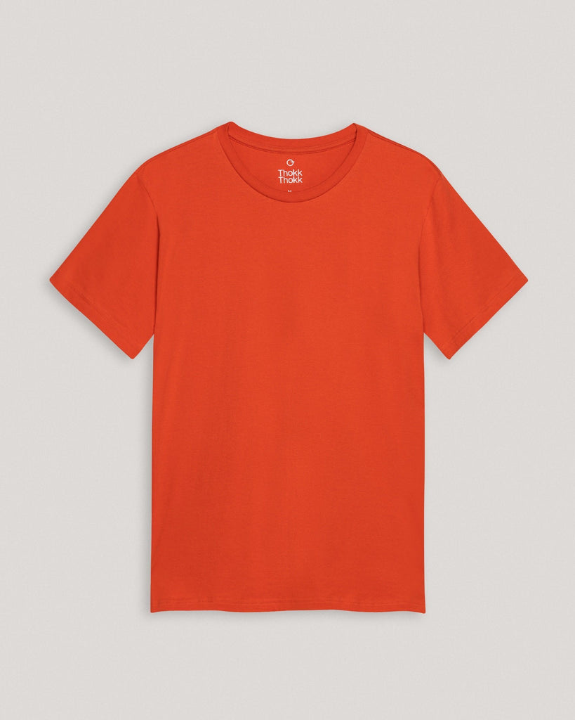 T-Shirt Basic Orange Herren ThokkThokk