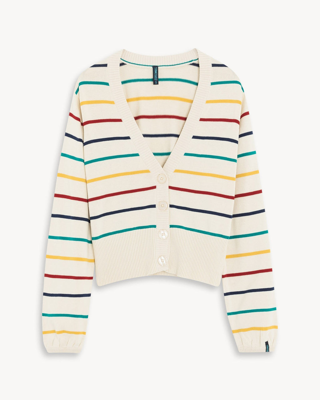 variant_2 | EN Jacket Multicolor with Stripes Women Tranquillo | DE Strickjacke mit Knöpfen Bunt Gestreift Damen Tranquillo