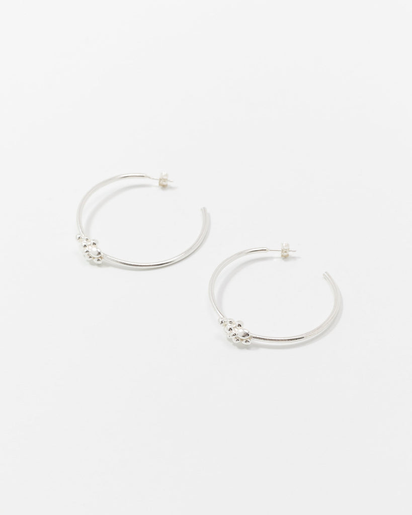 Silver Earrings Hoops Handmade Women Wildfawn