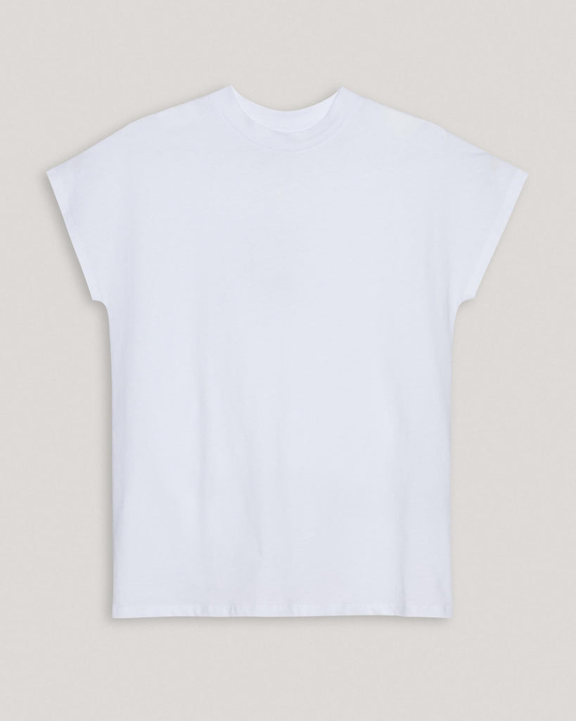 T-Shirt Basic Weiß Damen won hundred