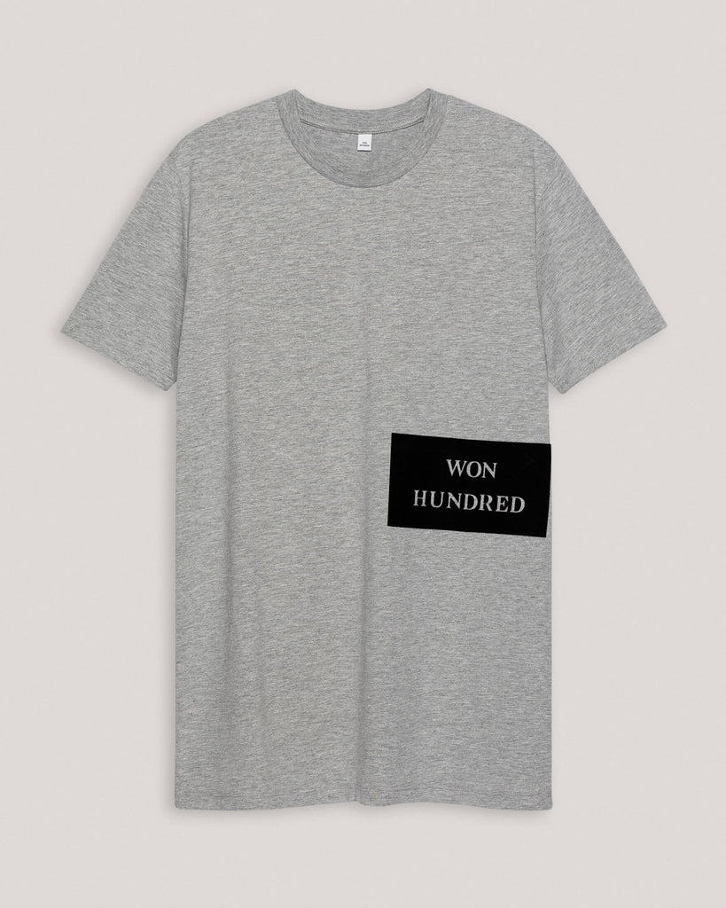 T-Shirt Grau mit Print Herren won hundred