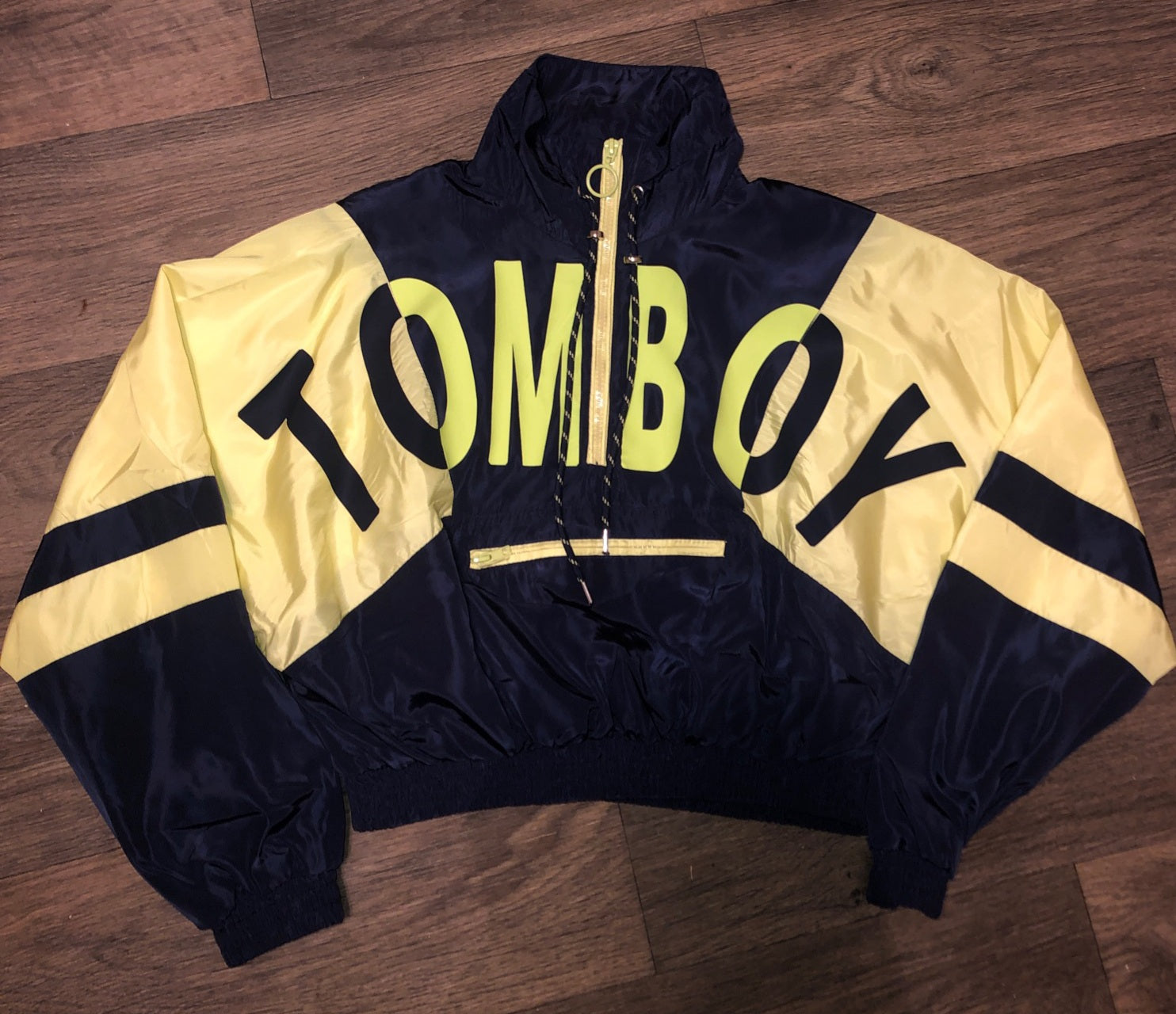 TOMBOY color block cropped windbreaker