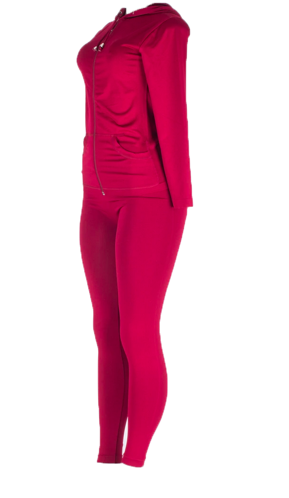 Ladies 2 pc Hoodie legging Set