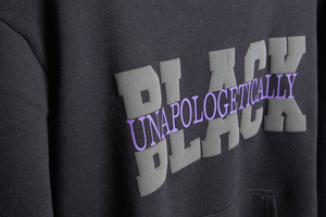 Unisex Unapologetically Black Puff Hoodie