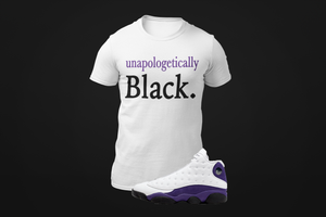 Men's Unapologetically BlackT-Shirt to match Jordan Retro 13 Lakers