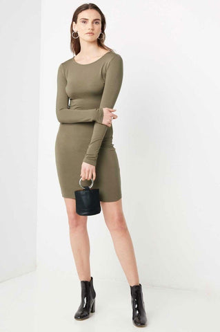 Women's long sleeve casual jersey bodycon mini dress