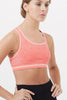 Buy yoga pilates workout activewear clothes for women: pink racerback compression sports bra