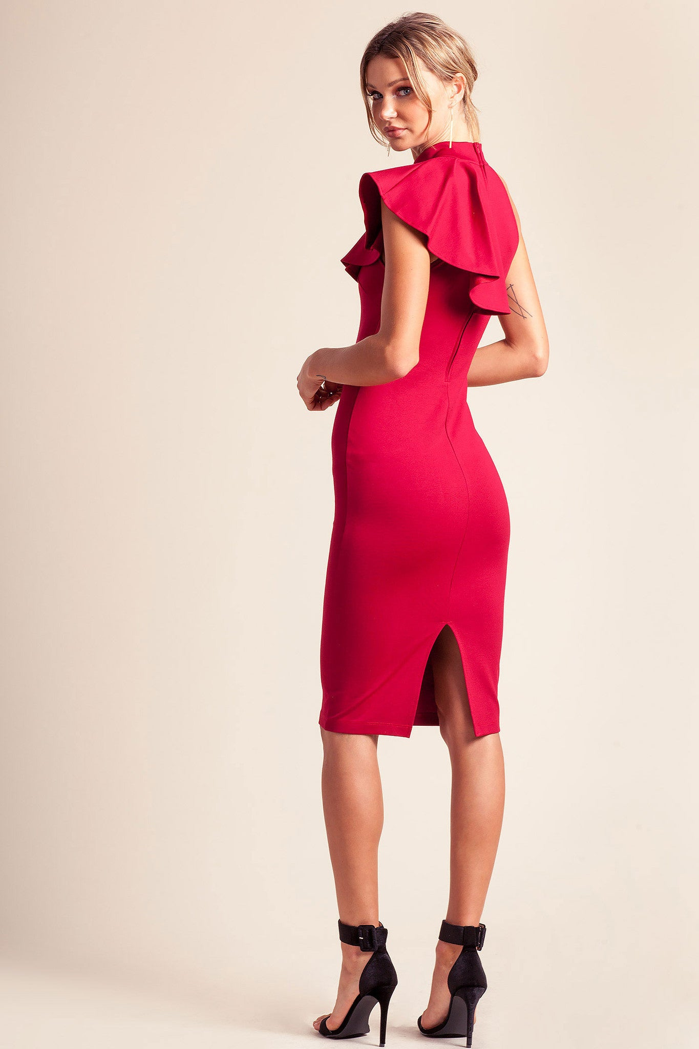 Estella Red Cocktail Dress