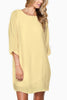 Michal-3/4-Sleeve-Shift-Tunic-Dress-Linen-Asos-Nasty-Gal-Shopbop-Topshop-Urban-Outfitters-Revolve-Clothing-Nordstrom-Miss-Selfridge-zara-zalando-tory-burch-need-supply-Mod-Cloth-pastel-Yellow-front view