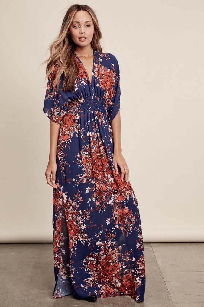 ca5307ab zara blue floral maxi dress