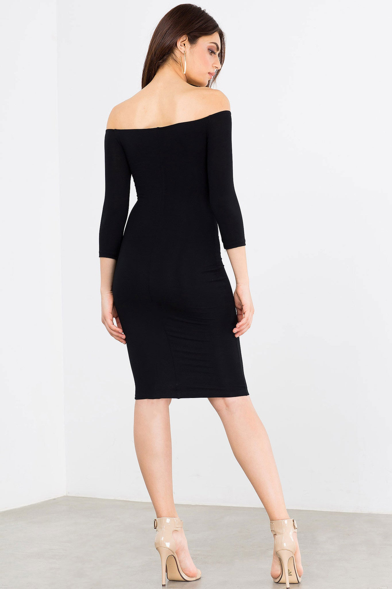 Black dress off the shoulder jersey