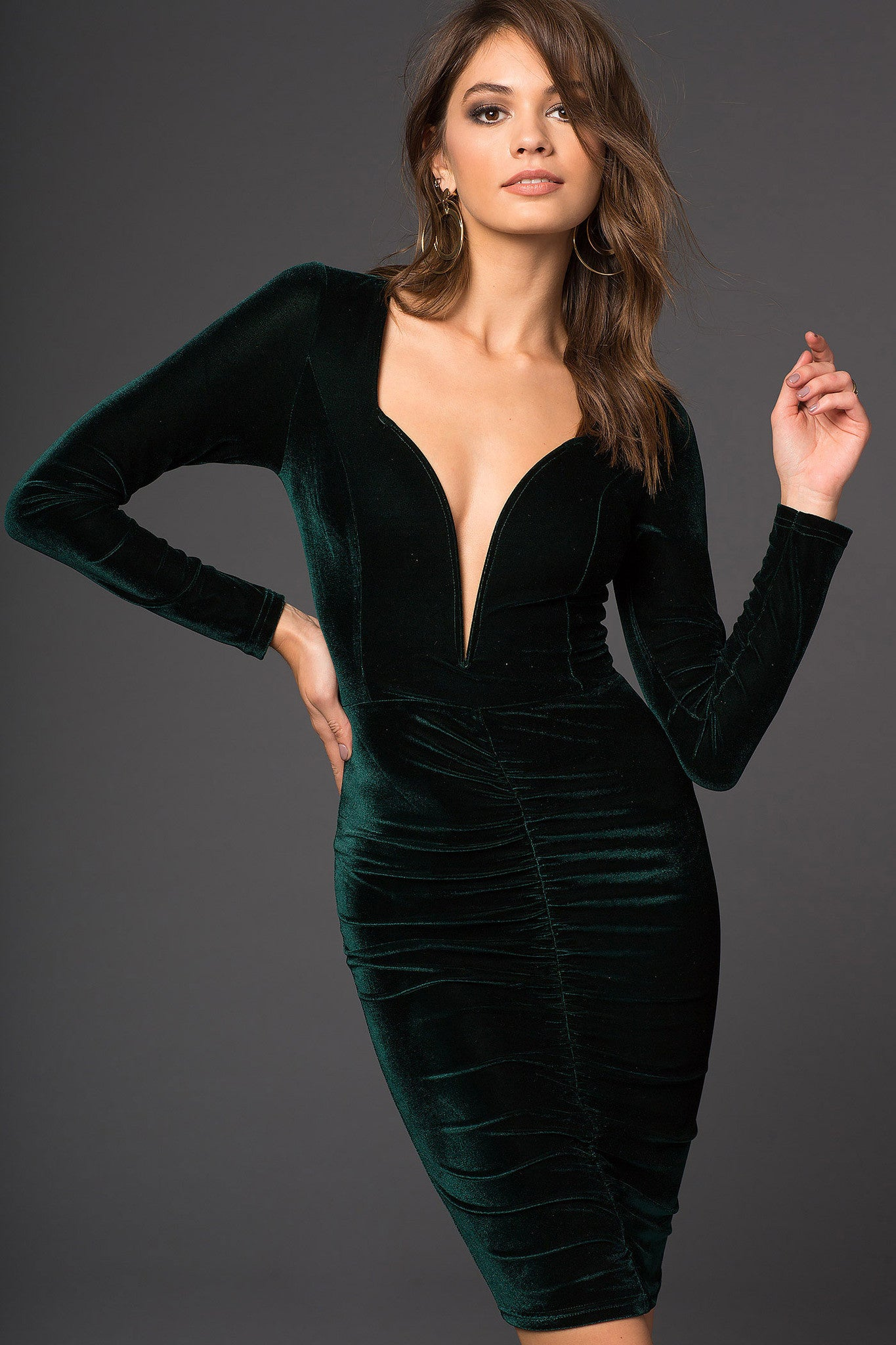 Long sleeve going out dress