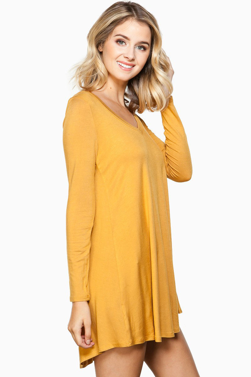 Yumi yellow fox dress