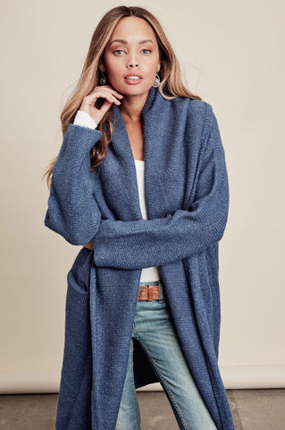 Oversized long cardigan coat for women. Cute fall outfits. Waterfall cardigan