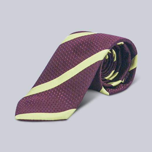 Seaward & Stearn Burgundy & Gold Striped Tie