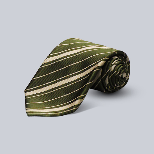 Andrew's Ties Green Striped Tie