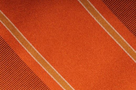 Bocara - Orange and Gold Striped Tie