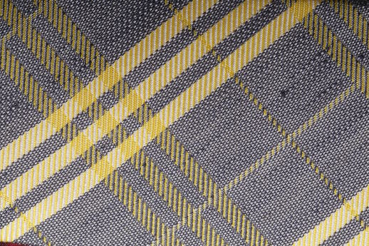 Ben Sherman- Grey and Yellow Plaid Tie