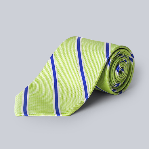 Collared Greens- Striped Tie
