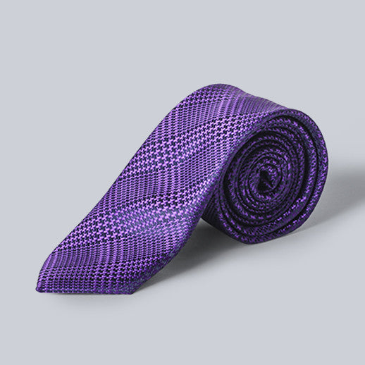 DIBI - Purple Plaid Tie