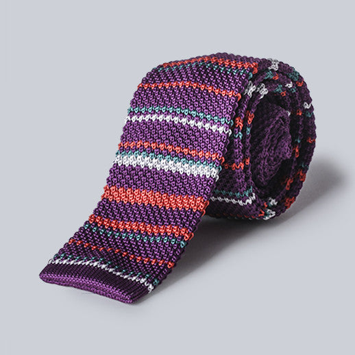 DIBI - Purple Knit Tie
