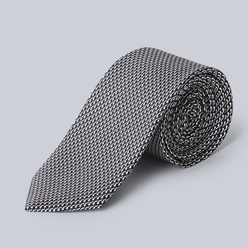 Jegman - Black and White Geometric Tie