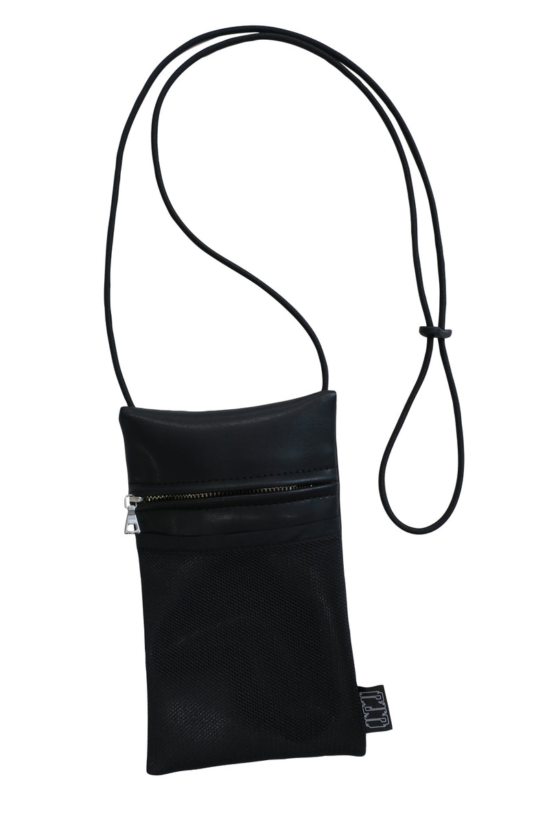 NIGHTLIFE FAUX LEATHER POUCH / BLACK