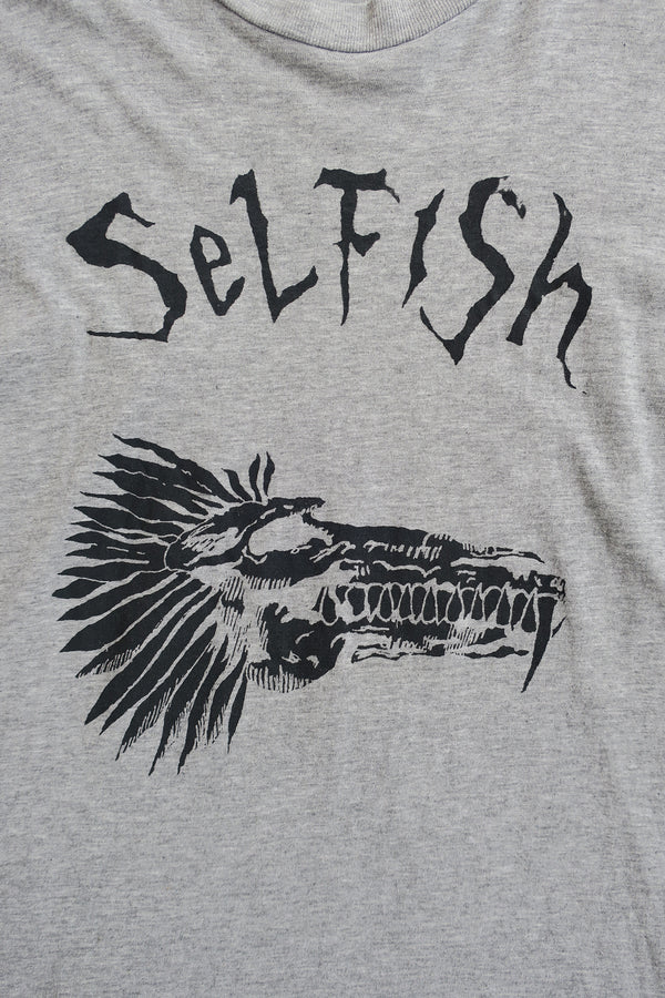 """Selfish""  VINTAGE BAND TEE"