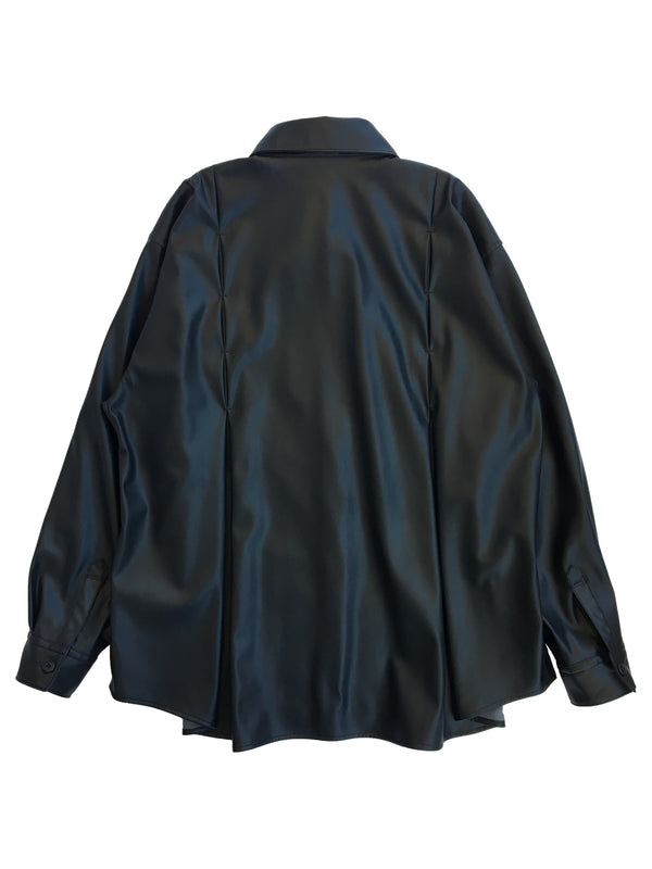 GIMMICK WIDE LEATHER SHIRT