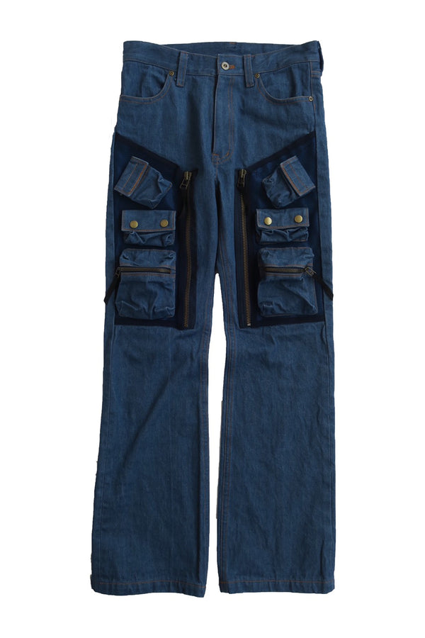 C1V BOOTS CUT PANTS / FADING DENIM