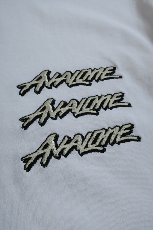 AVALONE EMBROIDERY SOUVENIR TEE / WHITE