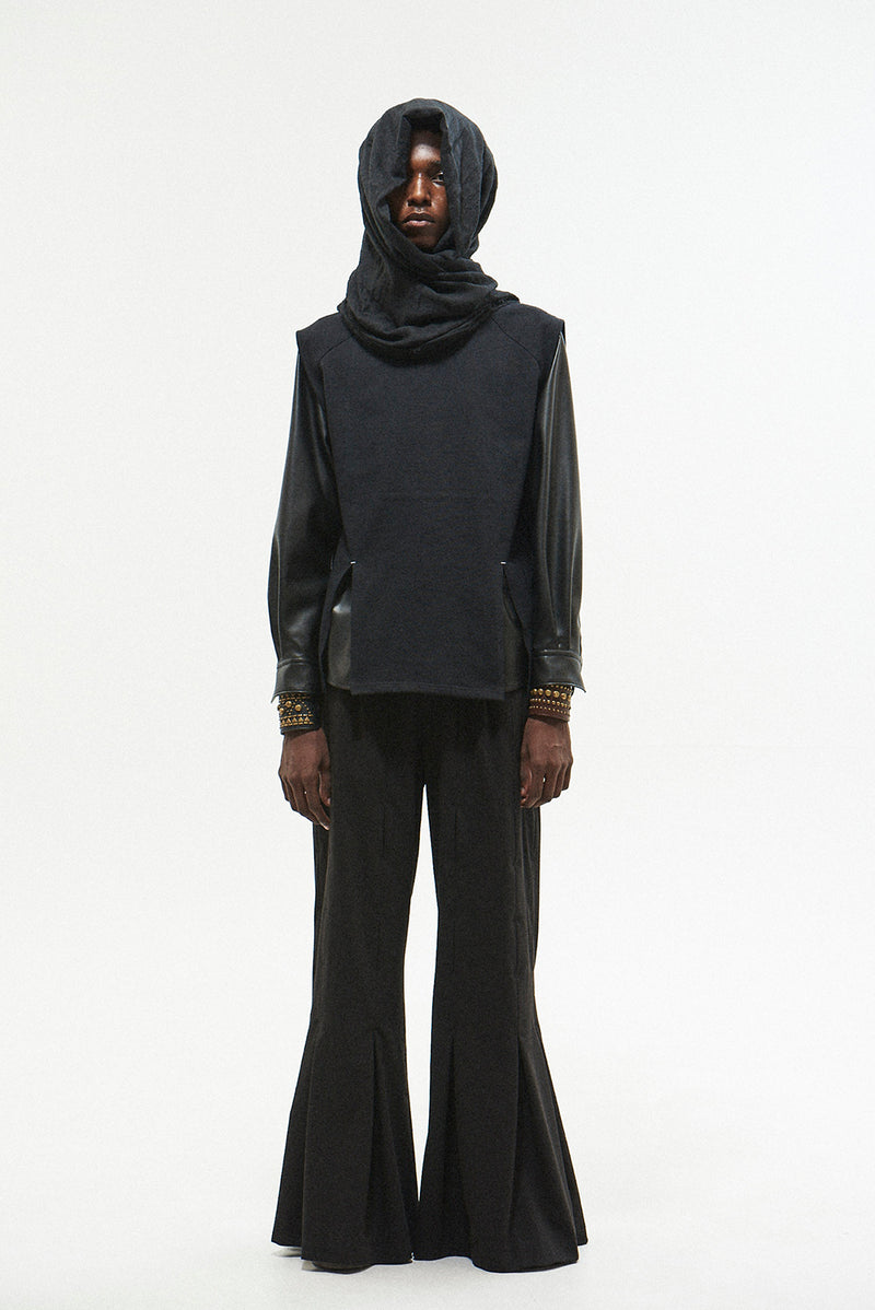 KANNUKI BELLOWS WIDE PANTS / BLACK