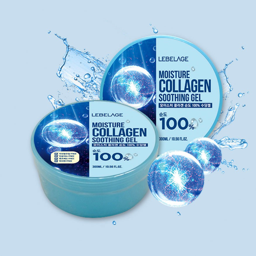 LEBELAGE MOISTURE COLLAGEN  100% SOOTHING GEL