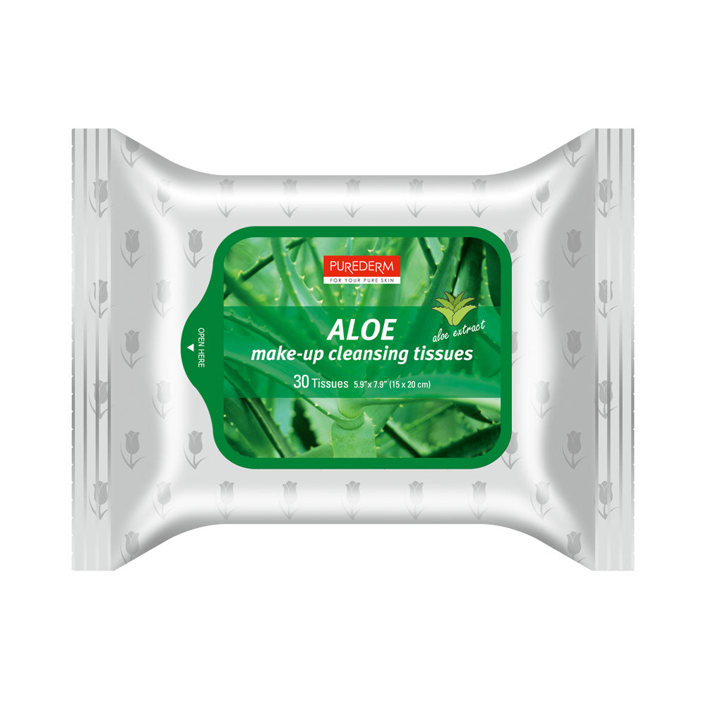PUREDERM ALOE MAKE-UP CLEANSING TISSUES