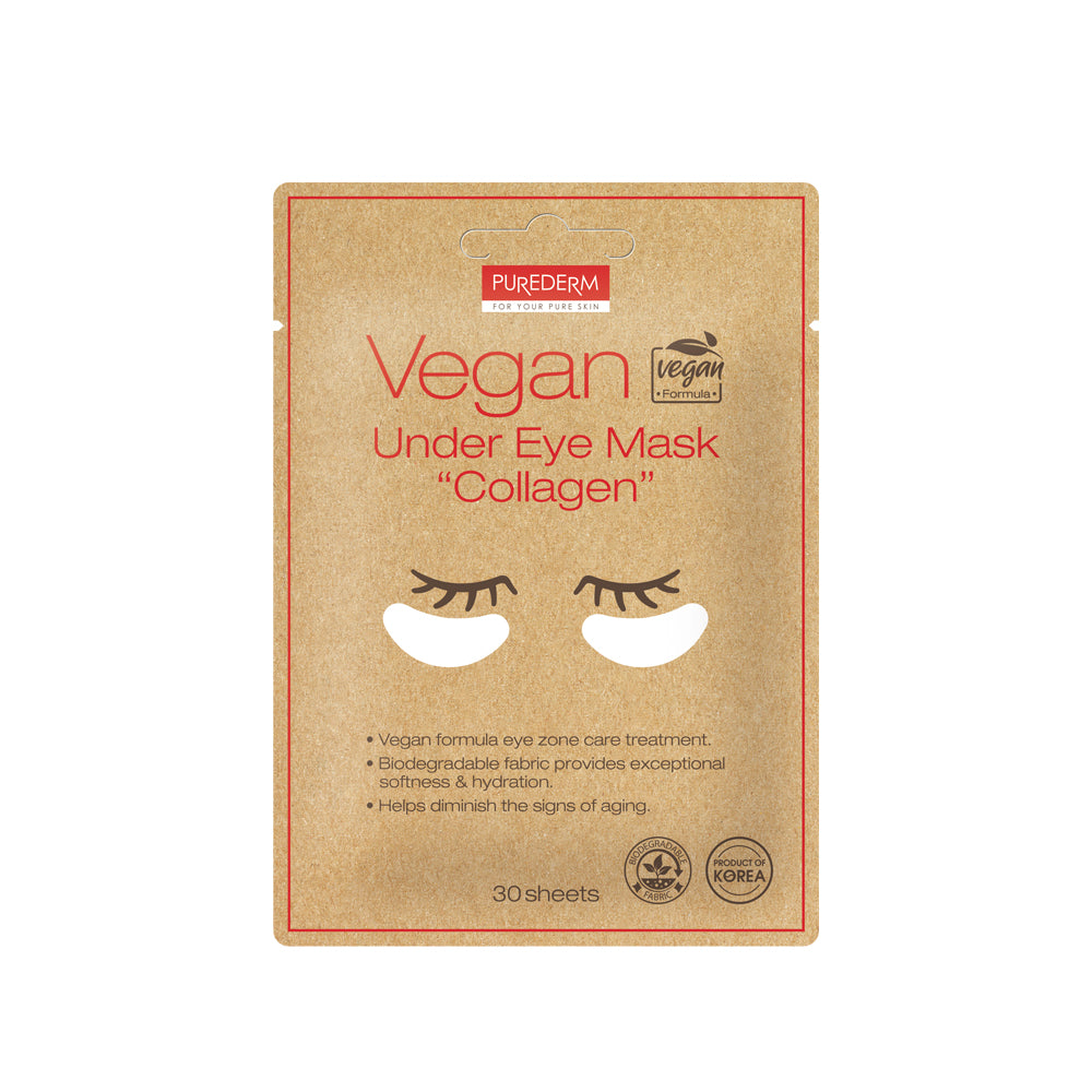 "PUREDERM Vegan Under Eye Mask ""Collagen"" 30 sheets"