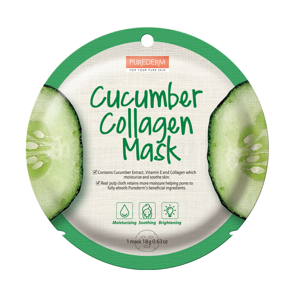 PUREDERM Cucumber Collagen Circle Mask(12sheets)