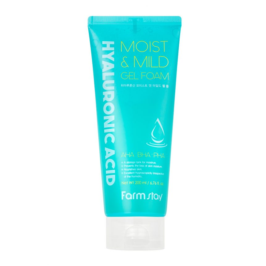 FARMSTAY HYALURONIC ACID MOIST&MILD GEL FOAM