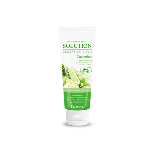 DEOPROCE NATURAL PERFECT SOLUTION CLEANSING FOAM GREEN EDITION CUCUMBER